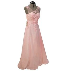 Grace Karin Formal Pink Prom Evening Gown Sz 12